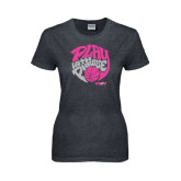 Ladies Dark Heather T Shirt-Upward Sports Play With Purpose Basketball