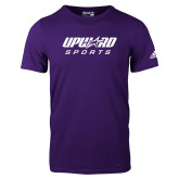 Adidas Purple Logo T Shirt-Upward Sports