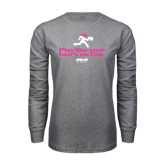 Grey Long Sleeve T Shirt-Play Like Your Hairs On Fire