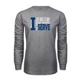 Grey Long Sleeve T Shirt-I Serve