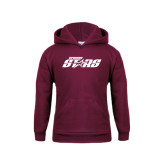 Youth Maroon Fleece Hoodie-Upward Stars