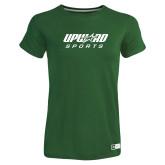 Ladies Russell Dark Green Essential T Shirt-Upward Sports