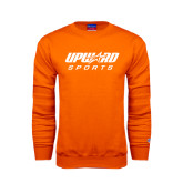 Orange Fleece Crew-Upward Sports