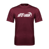 Performance Maroon Tee-Upward Stars Basketball