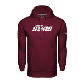 Under Armour Maroon Performance Sweats Team Hood-Upward Stars