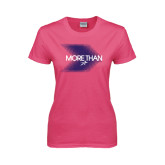 Ladies Fuchsia T Shirt-More Than Blury