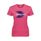Ladies Fuchsia T Shirt-More Than Blury