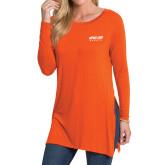Ladies Orange Side Slit Tunic-Upward Sports