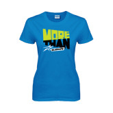 Ladies Sapphire T Shirt-More Than Athlete