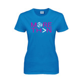 Ladies Sapphire T Shirt-More Than Volleyball