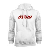 White Fleece Hoodie-Upward Stars