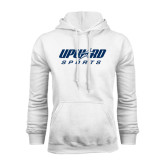 White Fleece Hoodie-Upward Sports