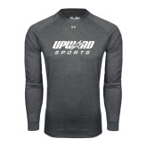 Under Armour Carbon Heather Long Sleeve Tech Tee-Upward Sports
