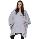 Ladies Grey Sherpa Poncho-Upward Sports