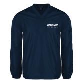 V Neck Navy Raglan Windshirt-Upward Sports