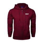 Champion Maroon Fleece Full Zip Hood-Upward Sports