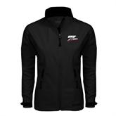Ladies Black Softshell Jacket-Logo Only