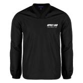 V Neck Black Raglan Windshirt-Upward Sports