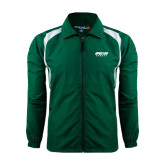 Full Zip Dark Green Wind Jacket-Upward Sports