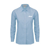 Ladies Light Blue Oxford Shirt-Upward Stars