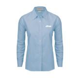Ladies Light Blue Oxford Shirt-Upward Stars