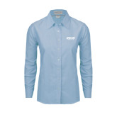 Ladies Light Blue Oxford Shirt-Upward Sports