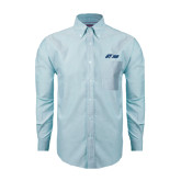 Mens Light Blue Oxford Long Sleeve Shirt-Upward Stars