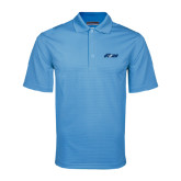 Light Blue Mini Stripe Polo-Upward Stars