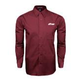 Maroon Tonal Pattern Long Sleeve Shirt-Upward Stars
