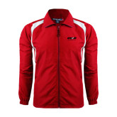 Full Zip Red Wind Jacket-Upward Sports