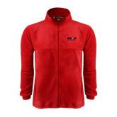 Fleece Full Zip Red Jacket-Upward Sports