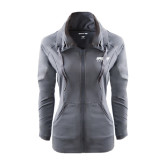 Ladies Sport Wick Stretch Full Zip Charcoal Jacket-Upward Sports
