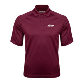 Maroon Textured Saddle Shoulder Polo-Upward Stars