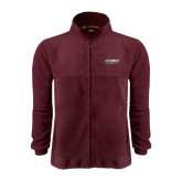 Fleece Full Zip Maroon Jacket-Upward Sports