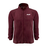 Fleece Full Zip Maroon Jacket-Upward Stars Volleyball