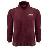 Fleece Full Zip Maroon Jacket-Upward Stars