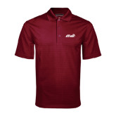 Maroon Mini Stripe Polo-Upward Stars Basketball