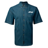 Denim Shirt Short Sleeve-Upward Stars