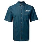 Denim Shirt Short Sleeve-Upward Stars