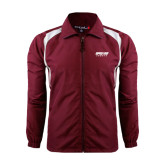 Colorblock Maroon/White Wind Jacket-Upward Sports