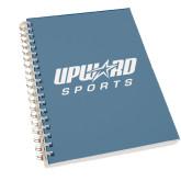 Clear 7 x 10 Spiral Journal Notebook-Upward Sports