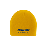 Gold Knit Beanie-Upward Sports