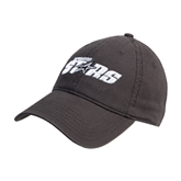 Charcoal Twill Unstructured Low Profile Hat-Upward Stars