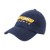 Navy Twill Unstructured Low Profile Hat-Upward Sports