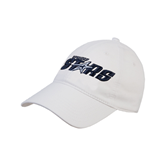 White Twill Unstructured Low Profile Hat-Upward Stars
