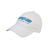 White Twill Unstructured Low Profile Hat-Upward Sports