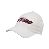 White OttoFlex Unstructured Low Profile Hat-Upward Stars