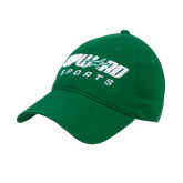 Kelly Green Twill Unstructured Low Profile Hat-Upward Sports
