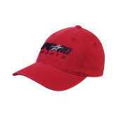 Red OttoFlex Unstructured Low Profile Hat-Upward Sports