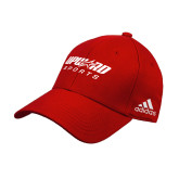 Adidas Red Structured Adjustable Hat-Upward Sports